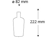 Cristallo-keckeis-ginflasche-masse