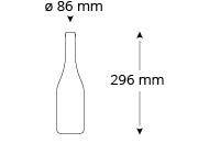 cristallo-herist-weinflasche-masse, Referenz Herist