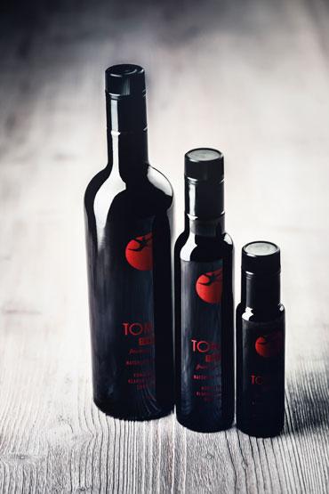 tomami-sortiment, cristallo, ölflaschen, oelflasche, tomami, verschluss, direktdruck, boden