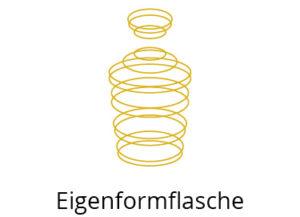 eigenformflasche-cristallo-unico