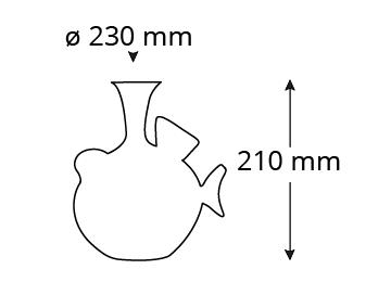 Abmessungen-P400D-Piuma-decanter-pappagallo